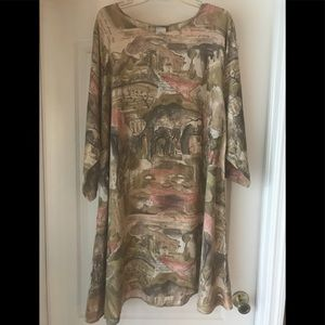 ANVO dress With Earth Tones - Size Large